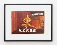 Chris Dickerson, Mr America 1970, Mr Universe 1974 and Grand Prix 1980 winner, Auckland by Fiona Clark contemporary artwork print