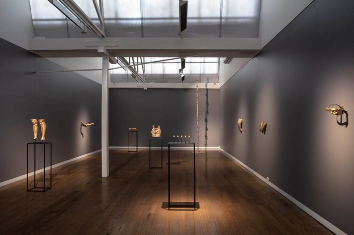 Exhibition view: Julie Rrap, Twisted Logic, Arc One Gallery, Melbourne (3 September–5 October 2019). Courtesy Arc One Gallery.