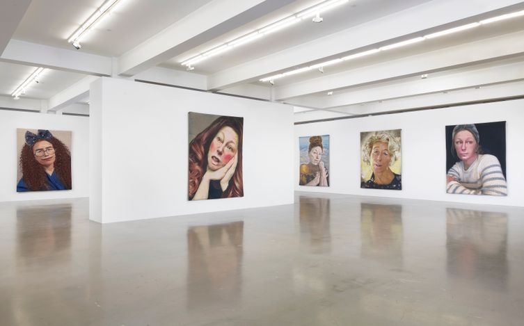 Exhibition view: Cindy Sherman, Tapestries, Sprüth Magers, Los Angeles (16 February–1 May 2021). © Cindy Sherman. Courtesy the artist, Sprüth Magers and Metro Pictures,New York. Photo: Robert Wedemeyer.