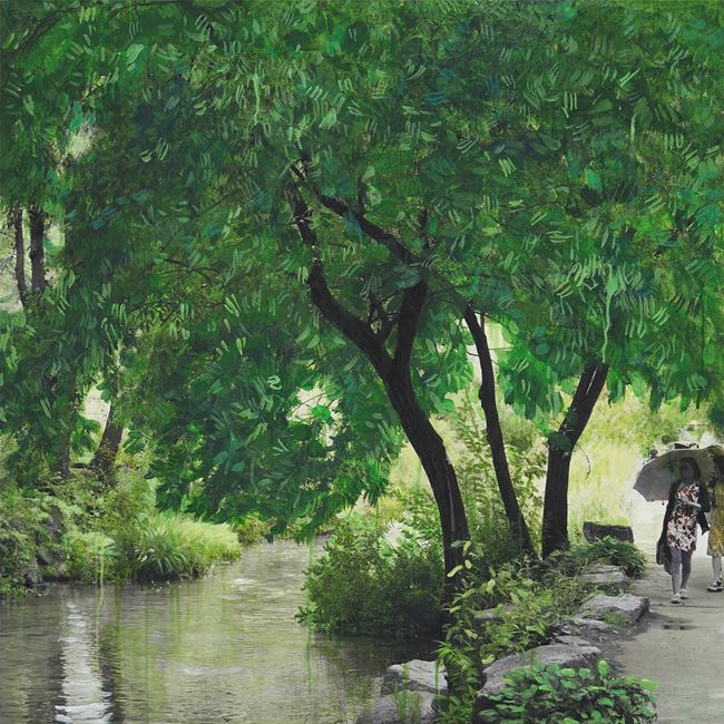 Study of Green-Seoul-Vacant Lot-Cheonggye Creek (Stream) by Honggoo Kang contemporary artwork