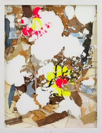 OPIUM POPPY 18 / Two Flowers by Shinro Ohtake contemporary artwork mixed media