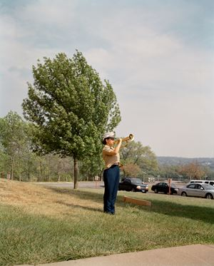 Julia, Reserve Officer Training Corps, Omaha, NE by Gregory Halpern contemporary artwork