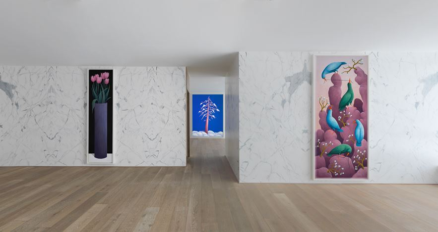 Exhibition view: Nicolas Party, Three Seasons, Xavier Hufkens, Brussels (19 May–15 July 2017). Courtesy Xavier Hufkens. Photo: Allard Bovenberg.