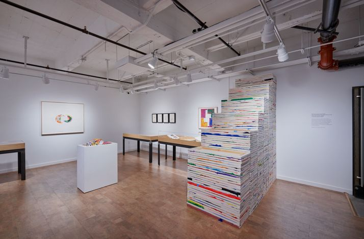 Exhibition view: Richard Jackson, Works with Books, Hauser & Wirth, Los Angeles, Book & Printed Matter Lab (20 March–6 June 2021). © Richard Jackson. Courtesy the artist and Hauser & Wirth. Photo: Mario de Lopez.
