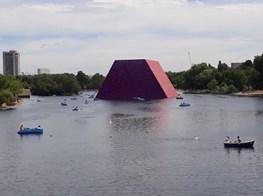 Encountering Christo's Massive Sculpture on the Serpentine Lake