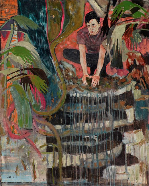 Case study (Anton, the early escapes) by Hernan Bas contemporary artwork