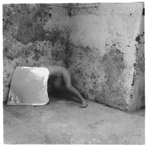 Self-deceit #5, Rome, Italy by Francesca Woodman contemporary artwork photography