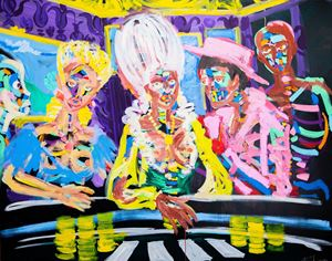 The Poker Players by Bradley Theodore contemporary artwork