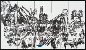 (Blue) Heels by Pierre Mukeba contemporary artwork