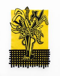 Black and Yellow by Jody Paulsen contemporary artwork textile