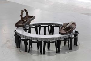 g. Pacing is a Trip of Waiting by Tant Yunshu Zhong contemporary artwork
