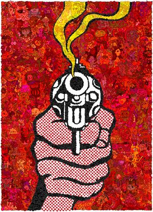 MMNT-MR-Red Gun by Keita Sagaki contemporary artwork