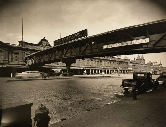 Ferry, Central Railroad of New Jersey, Foot of Liberty Street, Manhattan, March 23 by Berenice Abbott contemporary artwork