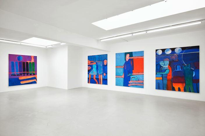 Exhibition view:Katherine Bradford, Legs and Stripes, Campoli Presti, London (31 May–27 July 2019). Courtesy Campoli Presti.