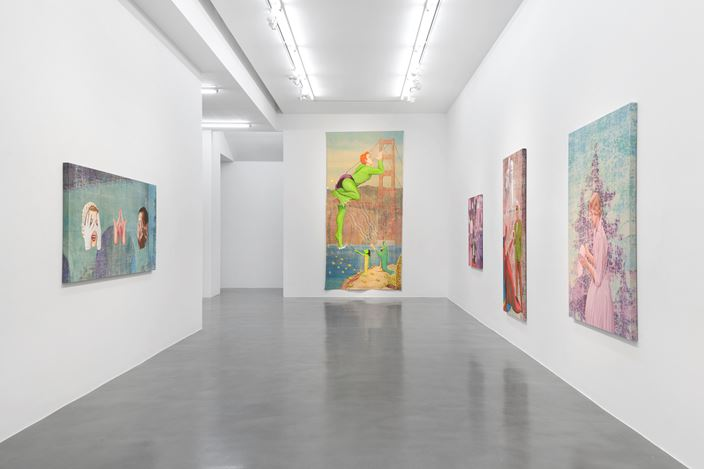 Exhibition view: Jim Shaw, Hope Against Hope, Simon Lee Gallery, London (20 October 2020–16 January 2021). Courtesy the artist and Simon Lee Gallery.Photo: Ben Westoby.