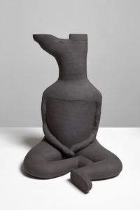 Cross Legged Man by Renee So contemporary artwork sculpture, ceramics