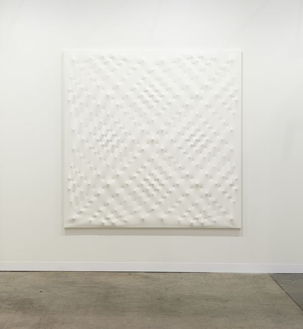 Superficie bianca by Enrico Castellani contemporary artwork