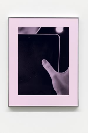 Thumb, Pad (Pink Filter) by Josephine Pryde contemporary artwork