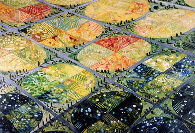 Earthscape by Oscar Oiwa contemporary artwork