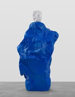 white blue monk by Ugo Rondinone contemporary artwork