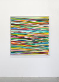 Horizontales Zig-Zag No. 9 by Beat Zoderer contemporary artwork painting