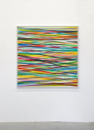Horizontales Zig-Zag No. 9 by Beat Zoderer contemporary artwork
