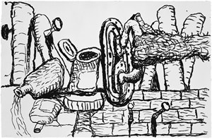 Remains by Philip Guston contemporary artwork