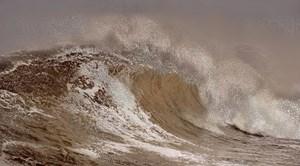 Scenapse Wave Copper by Aziz + Cucher contemporary artwork