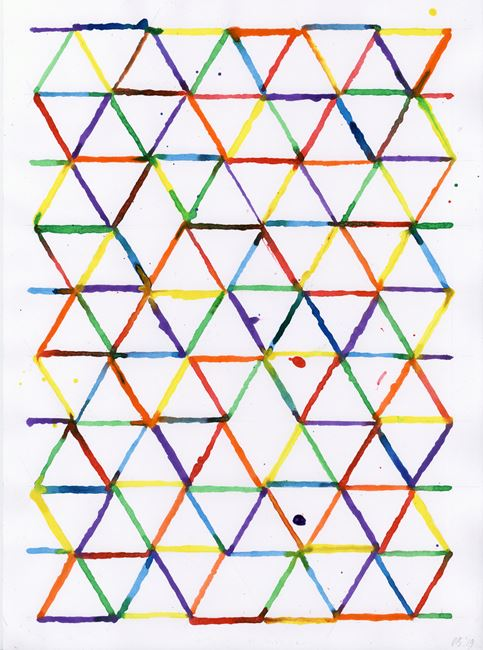 Colour Triangle 06 by David Batchelor contemporary artwork