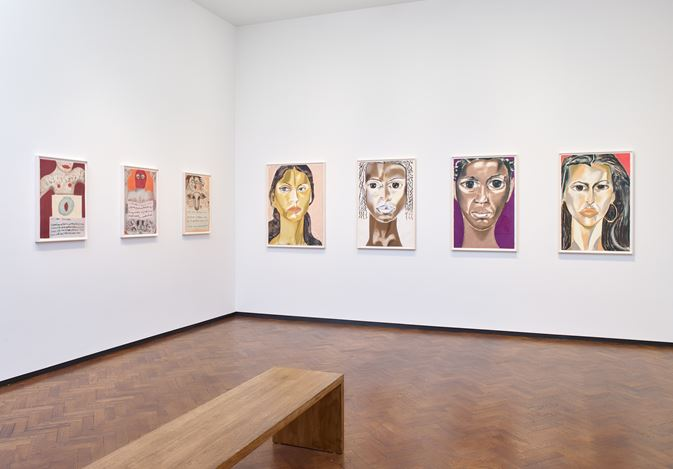 Exhibition view: Francesco Clemente, Pastels, Lévy Gorvy, London (12 December 2019–15 February 2020). Courtesy the artist and Lévy Gorvy. Photo: Stephen White.