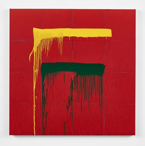 Considering Rothko #8 by Pat Steir contemporary artwork