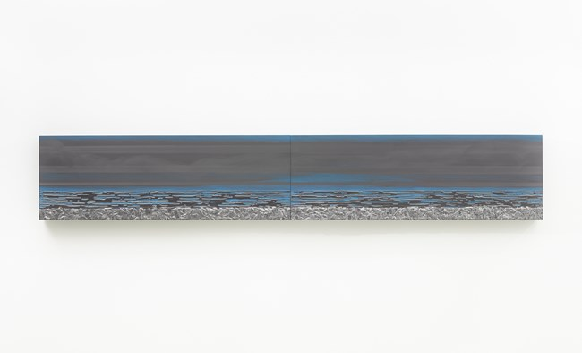 Nocturnal (Horizon Blue Haze) by Teresita Fernández contemporary artwork