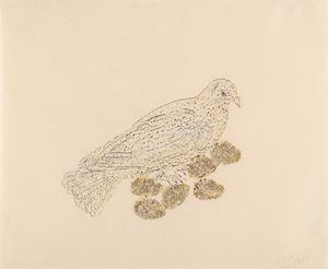 Feather Nest by Kiki Smith contemporary artwork