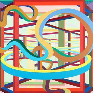 Vorcex II by Al Held contemporary artwork