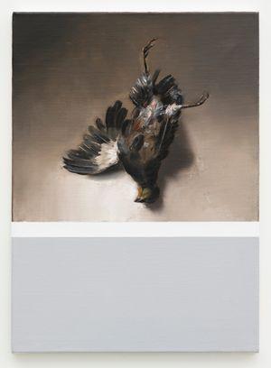 Still life (self portrait as a dead bird) by Mircea Suciu contemporary artwork painting