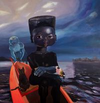 Sail me down deep river by Ndidi Emefiele contemporary artwork painting, mixed media