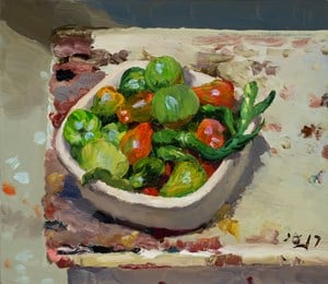 Tomatoes and Chilies 小西红柿和小辣椒 by Liu Xiaodong contemporary artwork