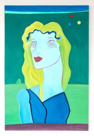 Primary Moons by Barbara Nessim contemporary artwork
