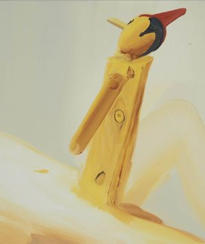 Pinocchio Plank by Tala Madani contemporary artwork