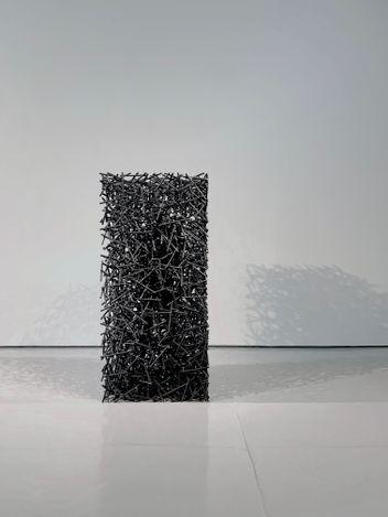 Li Hongbo, Stage No.1(2016–2020). Stainless steel. 316 x 36 x 36 cm. Courtesy Eli Klein Gallery.