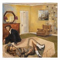Bed Room by Simon Stone contemporary artwork painting, works on paper