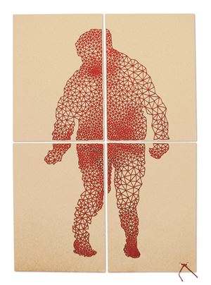 Corps rouge (Red body) by Joëlle Bondil contemporary artwork
