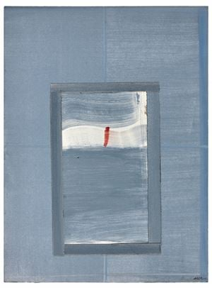 «Signe rouge by Geneviève Asse contemporary artwork