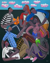 Young People Who Are Reading by Kitti Narod contemporary artwork painting