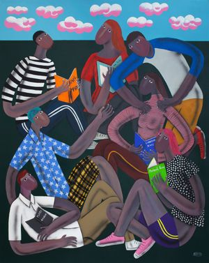 Young People Who Are Reading by Kitti Narod contemporary artwork