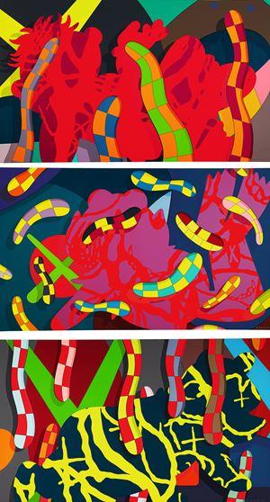 Lost Time/ Alone Again/ Far,Far Down by KAWS contemporary artwork