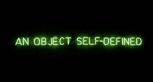 Self-defined object (green) by Joseph Kosuth contemporary artwork