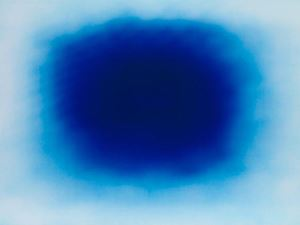 Breathing Blue by Anish Kapoor contemporary artwork