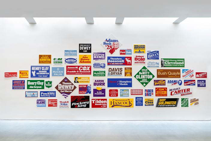 Exhibition view: Nina Katchadourian, Monument to the Unelected, Pace Gallery, New York (18 September–12 December 2020). © Nina Katchadourian. Courtesy Pace Gallery.