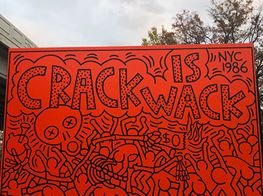 "Keith Haring's Iconic East Harlem Mural, ""Crack Is Wack,"" Is Back"